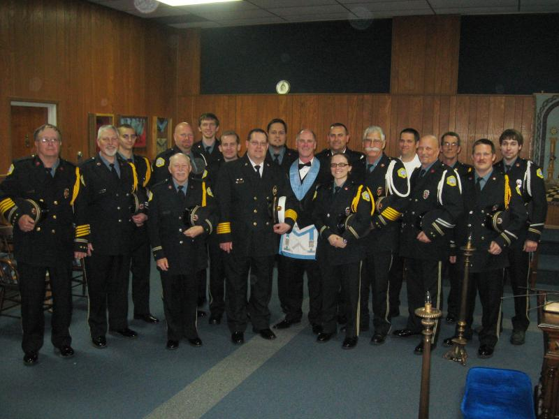 DFD HONORED BY WILLIAMSON MASONIC LODGE