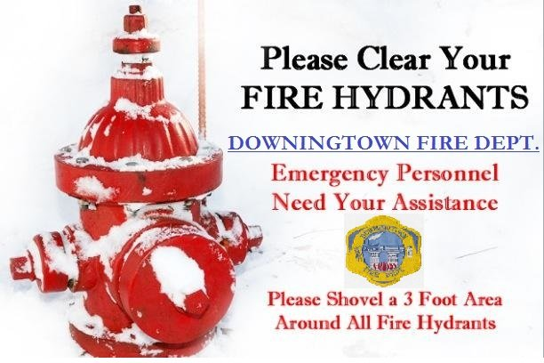 PLEASE CLEAR YOUR FIRE HYDRANT OF SNOW