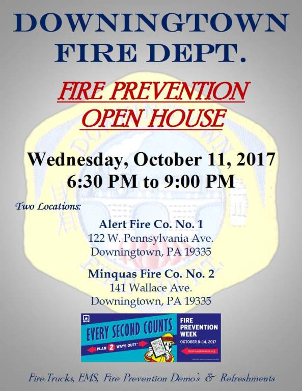 COMMUNITY FIRE PREVENTION OPEN HOUSE – OCTOBER 11, 2017