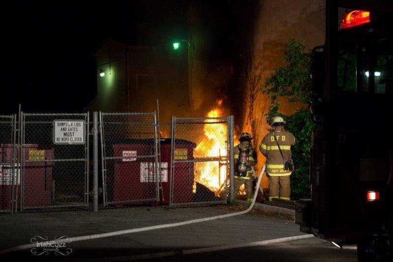 NIGHTTIME DUMPSTER FIRE