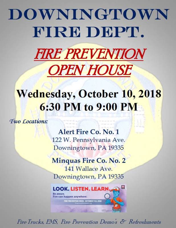 COMMUNITY FIRE PREVENTION OPEN HOUSE – OCTOBER 10, 2018