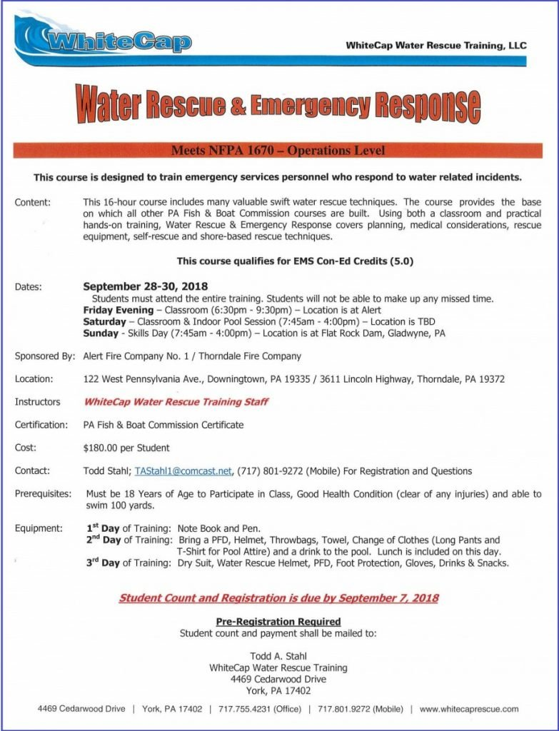 DFD & THORNDALE FIRE CO. WILL HOST WRER TRAINING